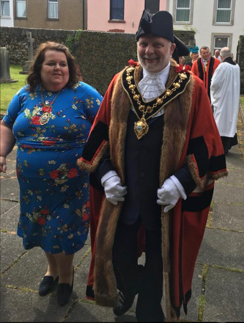 Consort Lisa Williams and Mayor Councillor Phil Thompson