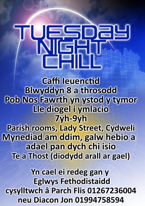 Clwb ieuenctid Tuesday Night Chill